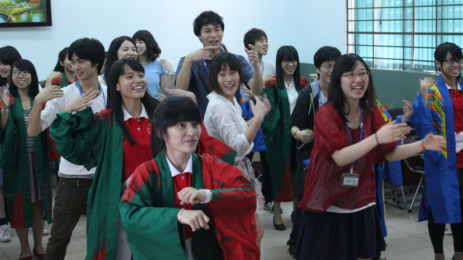 Student exchange activity at the National Vietnam University