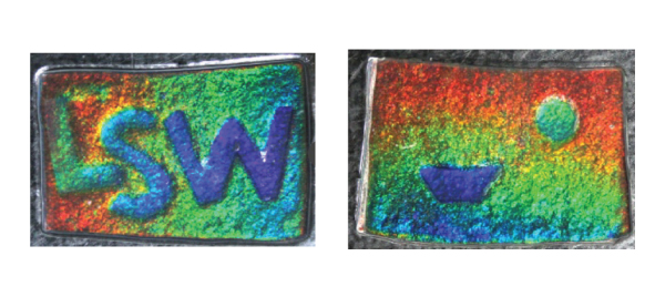 """LSW"" letters (left) and a picture pattern (right) are displayed"