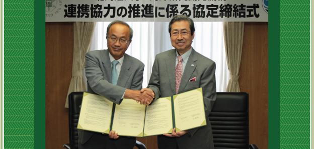 HU President Yamaguchi and JAMSTEC, President Taira