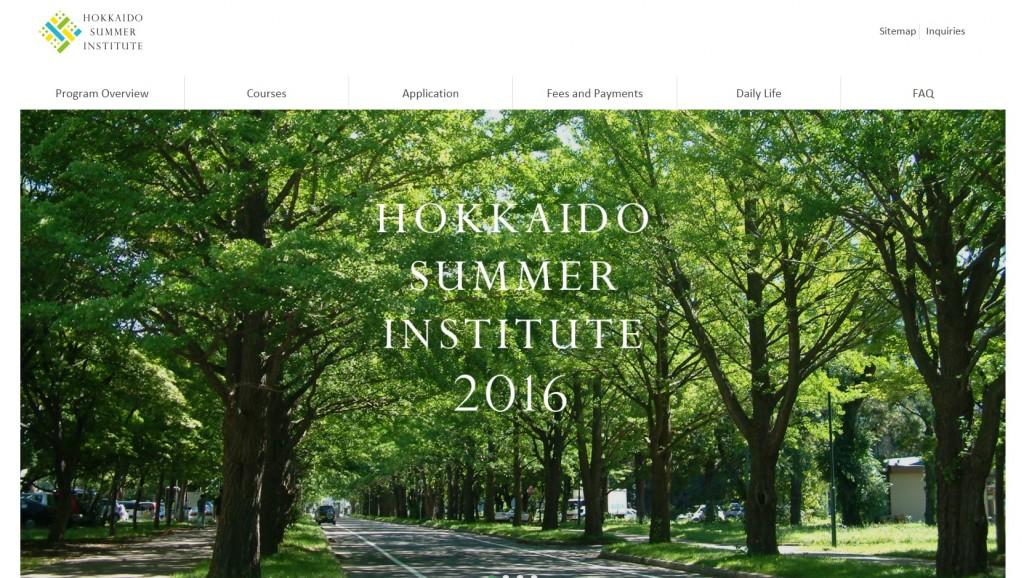 Hokkaido Summer Institute 2016