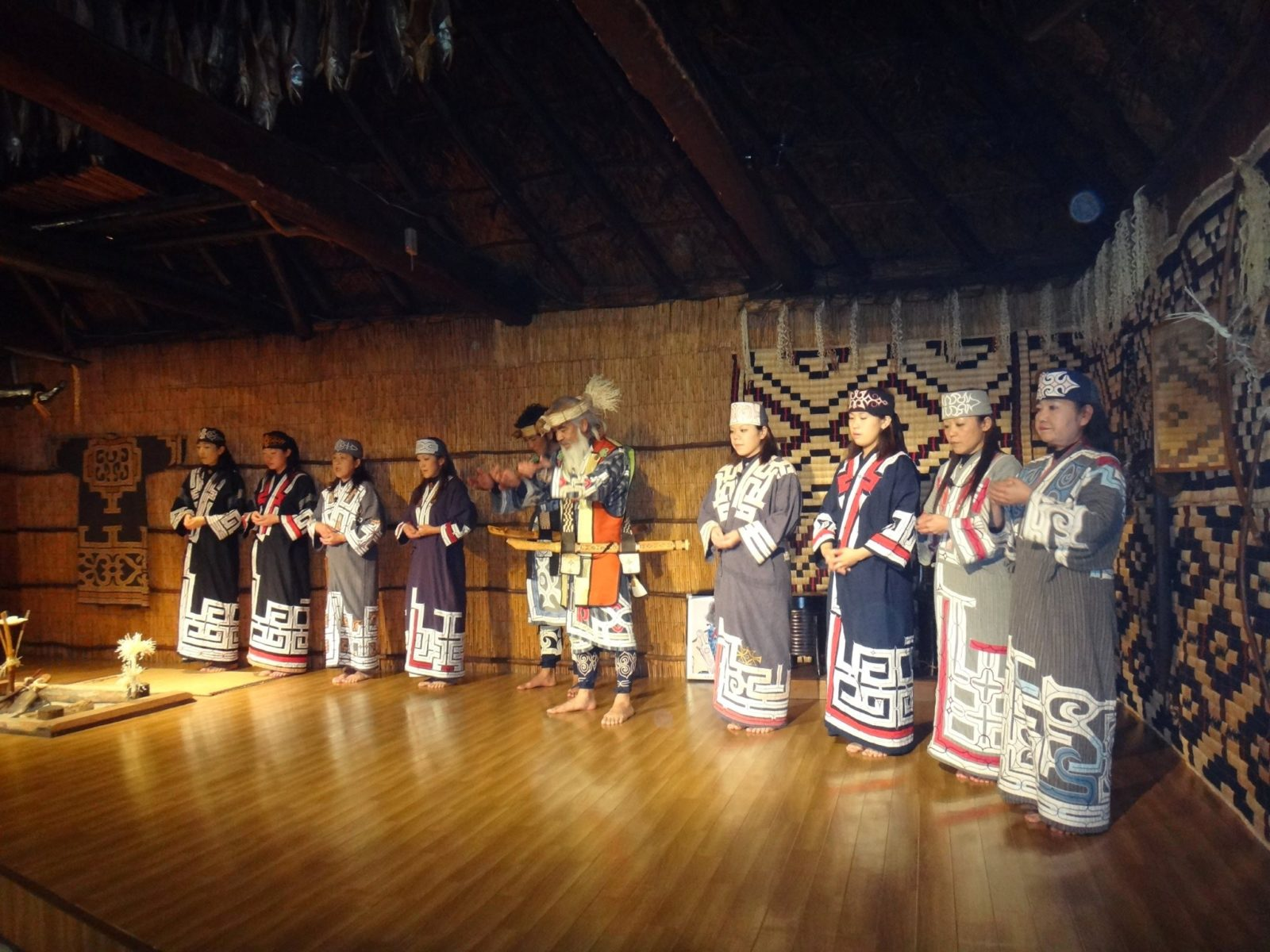 Greetings before Traditional Ainu dance