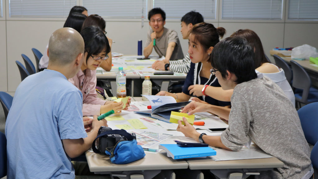 Some of the student groups during the workshop