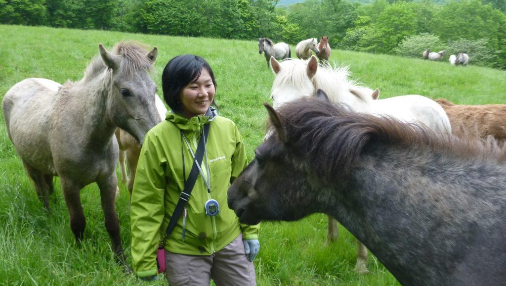Dr. Ayaka Takimoto at Shizunai Farm.