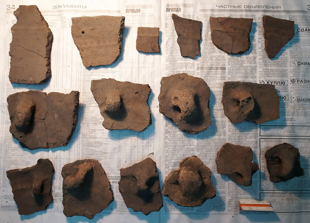 Ceramic fragments from Southern Kamchatka