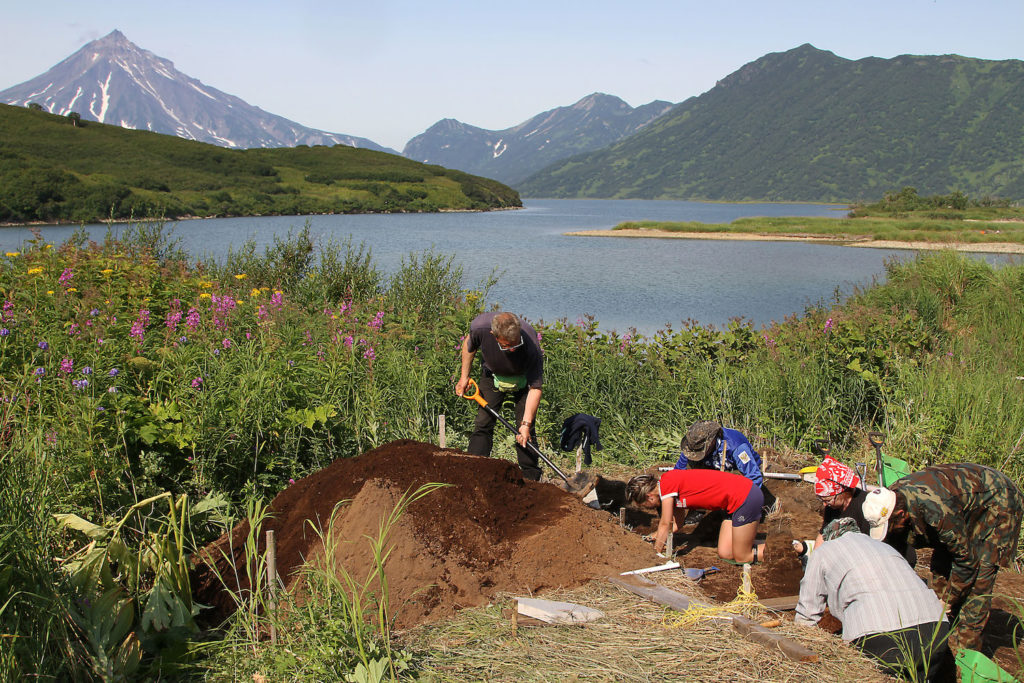Excavation in Southern Kamchatka