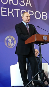 President Putin delivering a speech