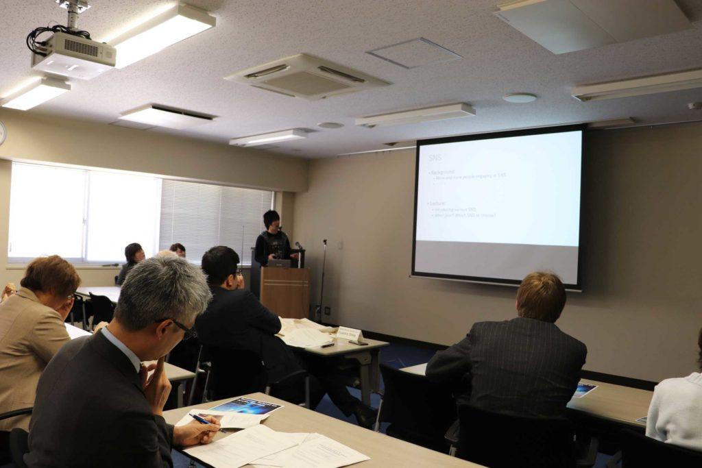 Mr. Ohkubo giving his presentation