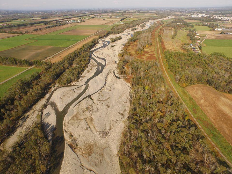 The Satsunai River, a branch of the Tokachi River, in eastern Hokkaido
