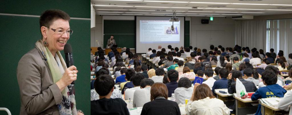 Dr. Patricia Flor speaking on EU–Japan Relations