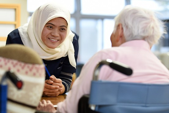 Indonesian care worker in Japan