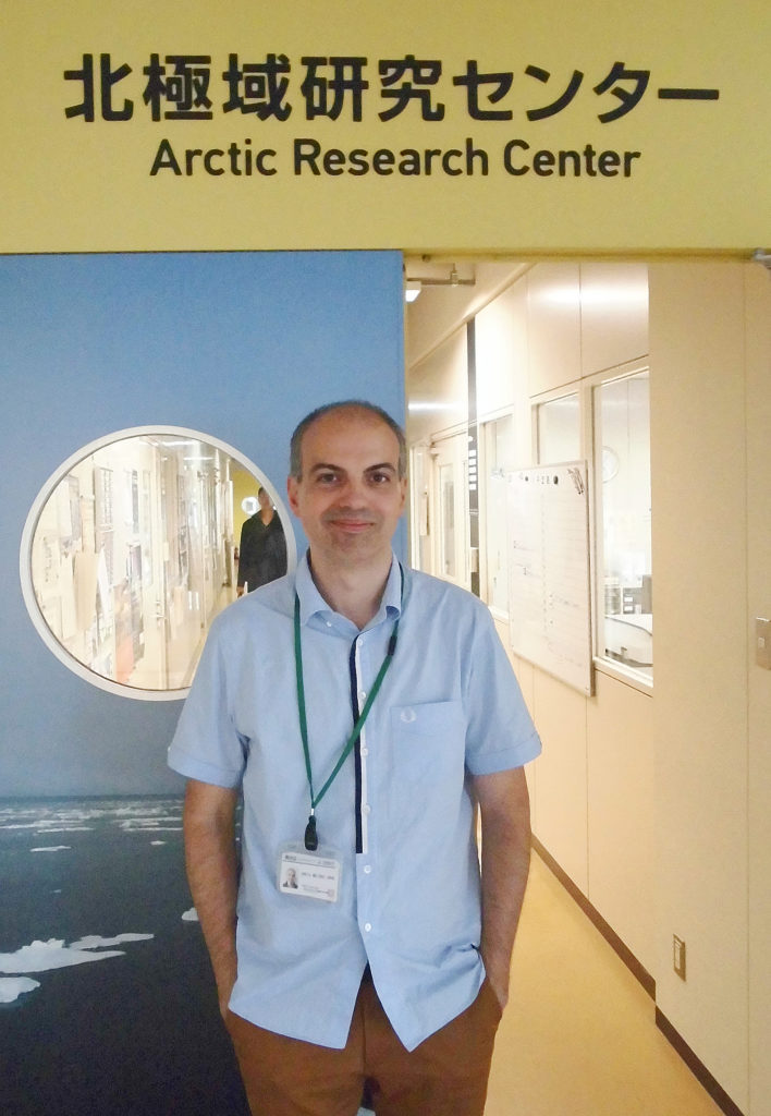 Jorge García Molinos at the Arctic Research Center of Hokkaido University.