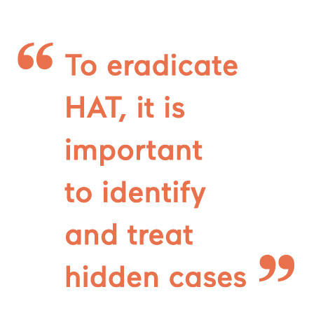 To eradicate HAT, it is important to identify and treat hidden cases